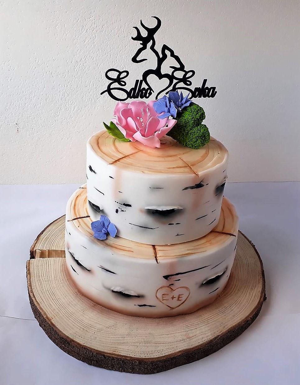 Zápich na svadobnú tortu jeleň