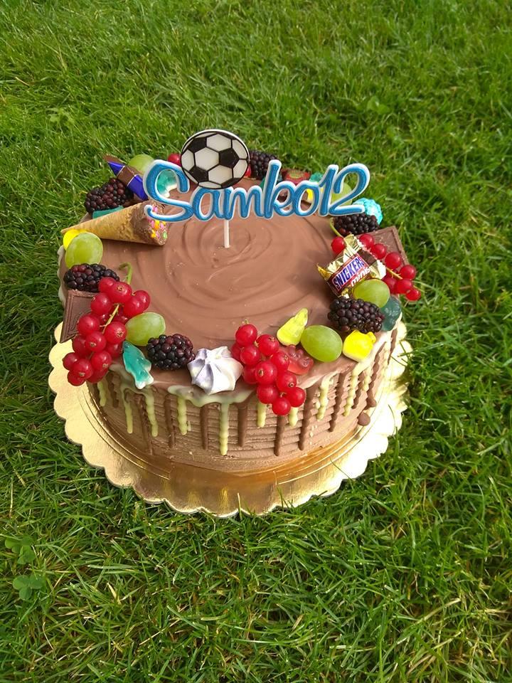 Zápich na tortu fotbalista